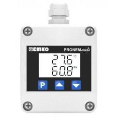 Pronem Midi-LCD (Kanal Tipi)  Sıcaklık ve Bağıl Nem Trasnmitteri